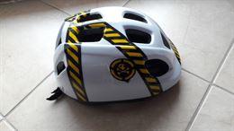 Casco per bicicletta bambini color bianco con inserti neri