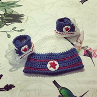 Coordinato cappellino e scarpette